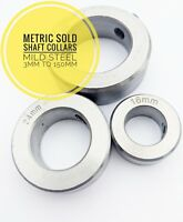 Shaft Collars Solid Mild Steel Precision Turned 3mm To 150mm