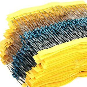 200Pcs 1/4W 0.25W Metal Film Resistor ±1% 1K -910K Ω Ohm 1 K - 910 K