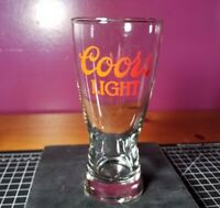 Vintage Coors Light Beer Cup Glass Clean!! No Chips Or Cracks!! Fast Shipping!!!