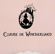 Alice in Wonderland Wall Art Sticker Quote Personalised with Name or Text
