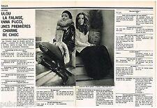 Coupure de presse Clipping 1973 (2 pages ) Loulou de la falaise et Idanna Pucci