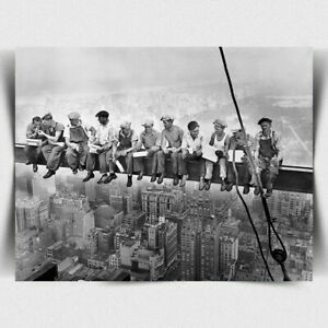 METAL WALL PLAQUE Lunch atop a Skyscraper New York photo print picture decor