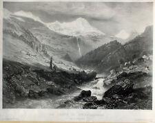 Sabatier Schmadribach Lauterbrunnen Wasserfall Schweiz Bern Breithorn Gletscher