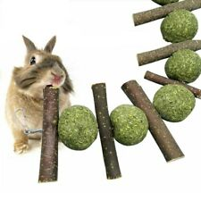 Cute Rabbit Guinea Pig Pet Grass Ball Branch Molar Chew Play Teething Toy