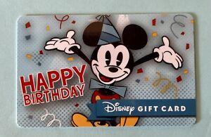 WALT DISNEY Happy Birthday DISNEYLAND GIFT CARD