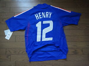 France #12 Henry 2002/03 100% Authentic Player Issue Soccer Jersey S BNWT [2532]