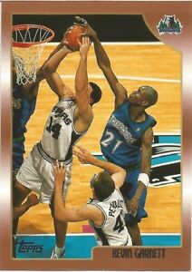 Kevin Garnett Topps 1998/99 - NBA Basketball Card #125