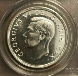 1951 Canada $1 coin Graded by PCGS and Graded PL66