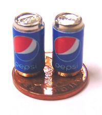1:12 Scale 2 Empty Pepsi Drink Tin Dolls House Miniature Pub Bar Drink Accessory