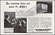 Publicité KODATOY camera projecteur cinema film vintage print ad  1931 - 10h