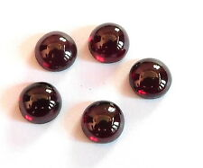 14.80 Cts 05 Pisces Natural Garnet Cab Lot Loose Gemstone Round Lot 8 MM H-1052