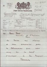 QUEEN VICTORIA TELEGRAM VISIT PARIS PONSONBY 1899