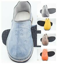 Moroccan Slippers Berber Men Leather Babouche Shoes Sheepskin Handmade Tradition