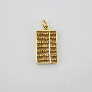 Vintage 14K Yellow Gold 3D ABACUS Charm
