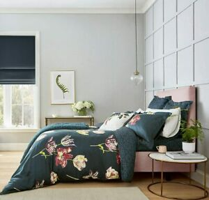 Sanderson Tulipomania Floral Duvet Cover, Oxford Pillowcase or Cushion Ink Blue