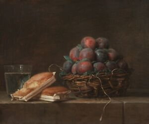 "Anne Vallayer-Coster : ""Basket of Plums"" (1769) — Giclee Fine Art Print"