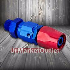 Red/Blue Straight Swivel Oil/Fuel/Fluid Line Hose End 8AN T1 Fitting Adapter