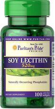 Lecitina di Soia 520 mg x 100 SOFTGELS Puritan's Pride ** INCREDIBILE PREZZO **