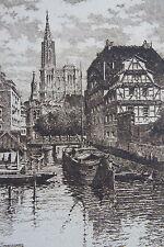 KOERTTGE A. eau forte, Strasbourg, societe des amis des livres, dimensions de la