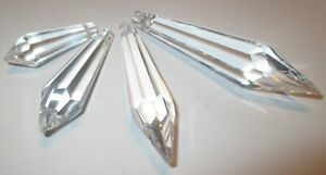 10 Zapfen 50x15 mm Fensterschmuck Kronleuchter  Kristallanhänger Asfour Crystal
