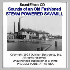 SOUNDS OF A STEAM POWERED SAWMILL SOUND EFFECTS CD FOR HO SCALE MODEL RAILROADS