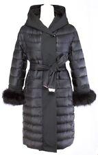 S Max Mara URBANI Reversible Goose Down Hooded Fox Cuff Coat Msrp $1295.00