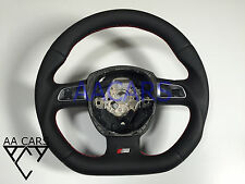 Steering Wheel AUDI A4 A5 A6 A8 Q7 S-Line Flat Bottom extra THICK