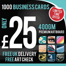 1000 Business Cards - Full Colour - Matt Laminated - Double Sided