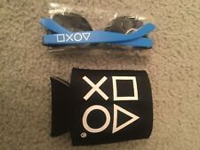 2017 PSX Playstation Experience Symbols Sunglasses And Drink Koozie
