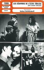 Fiche Cinéma. Movie Card. Le désarrois de l'élève Törless (Allemagne/Fr) 1966