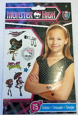 75 Monster High  Tattoos Party Favors Teacher Supply