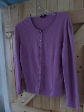 """Dusky Pink Lightweight Cardigan by Per Una Size 18 Chest 42"""" - 44"""" Button Up"""