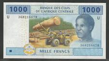 Central African States P-207U 1000 Francs 2002 Unc