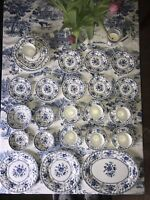 JOHNSON BROS Indies Dinnerware 27 Piece China Set Blue and White Made In England