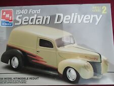 1940 FORD SEDAN DELIVERY PANEL VAN AMT 2N1 WRAPPED 1:25 KIT '40 FORD