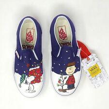 Vans Peanuts Charlie Tree Kids 1.5 Classic Slip On Christmas Shoes New