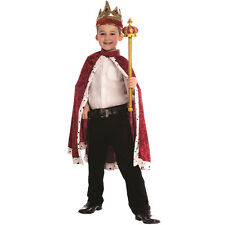 Kids King Robe and Crown Costume By Dress up America One Size