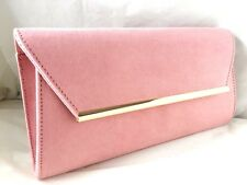 NEW FAUX SUEDE BEIGE NUDE ROYAL BLUE RED BLACK EVENING CLUTCH BAG WEDDING PARTY