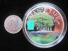 Evolution of Life 2015 Cook Islands 50 gr of SILVER w Nano Chip only 1,000 made!
