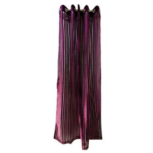 Satin Purple Striped Color Wall Mounted Window Curtain Drape Living Bed Room