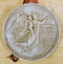 Vintage Round Cherubs Angels Wall Plaque Decor Cupid Eros Night