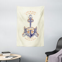 Ocean Tapestry Vintage Style Anchor Sign Print Wall Hanging Decor