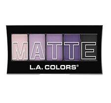 L.A. COLORS Purple Cashmere 5 Color MATTE Vibrant Eyeshadow Palette Makeup Set