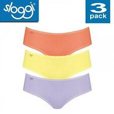 sloggi Daily Cotton H Hipster Knickers Brief Panties 3/6 Pck Underwear 3 Multi 12