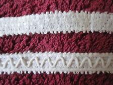 Galon de coton blanc, début XXème, couture, loisir créatif