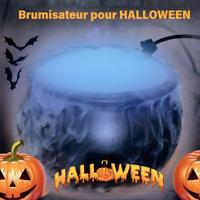 Décoration Halloween Chaudron Brouillard Brumisateur Fumée Fête Maison Effrayant