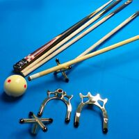 Combo Metal Pool Snooker Billiards Table Cue Brass Cross & Spider Holder