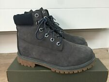 """GENUINE NAVY BLUE TIMBERLAND NUBUCK LEATHER 6"""" INCH BOOTS, UK 4/37, EX CON!"""