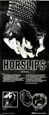 4/5/74MM14 HORSLIPS Concert Tour  15X7 The TAIN/HY TO MEET ADVERT