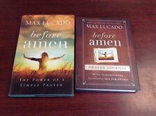 Lot of 2 BEFORE AMEN Max Lucado HCDJ book prayer journal Power Of Simple